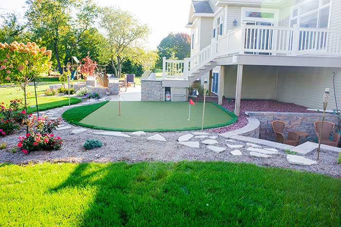 front yard play area