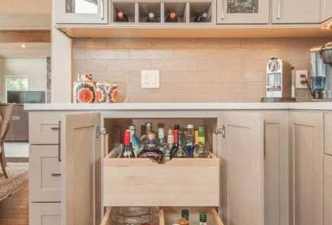 cabinetry with accessories