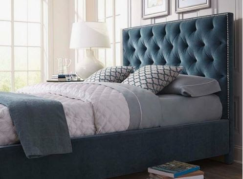 Beautiful Bed with Upholstered Headboards